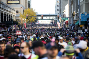December 05, 2015 - More than 20,000 runners competed in near-perfect weather conditions for the 37th running of the event, expected to raise $8 million in what is St. Jude's biggest individual fundraiser of the year. (Brad Vest/The Commercial Appeal)